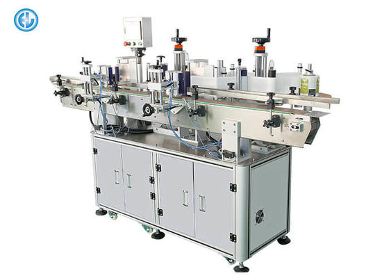 PLC Controlprint Apply Labeling Systems Front And Back Automatic Labeling Machine With PET Glass Bottles
