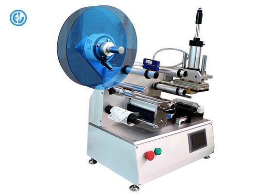 Semi Automatic Adhesive Labeling Machine For Small Paper Tube 15-35 pcs/min Applicable Dimensions