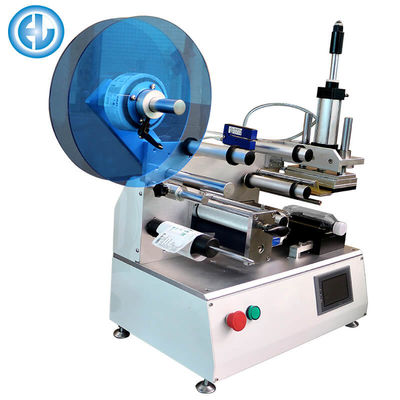 China Semi Auto Bottle Labeling Machine , Adhesive Manual Label Applicator  factory
