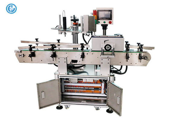 China round square pet pve glass plastic bottle sticker labeling machine With Code Printer factory