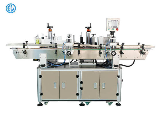 China Double Side Vial Labeling Machine , Bottle Label Applicator Machine For Small Bottles factory