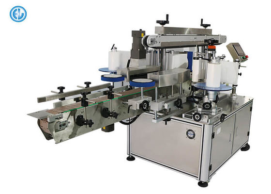 Cylinder Milk Bottle Labeling Machine High Accuracy With Label Detecting Sensor Adjustment