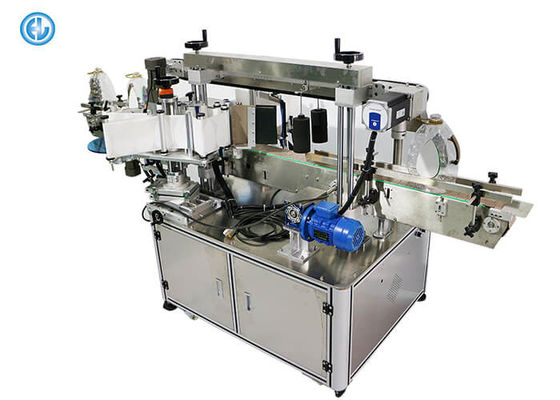 China Automatic Twinhead  Butter Detergent Bottle Sticker Labeling Machine Flat / Square factory