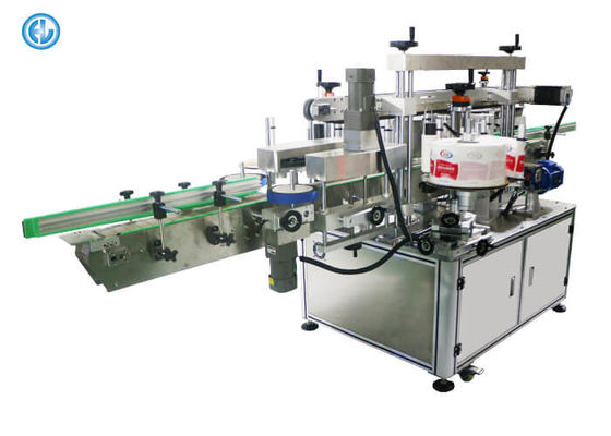 China Two Side Manual Bottle Labeling Machine Oil / Cola Bottle Labeling factory