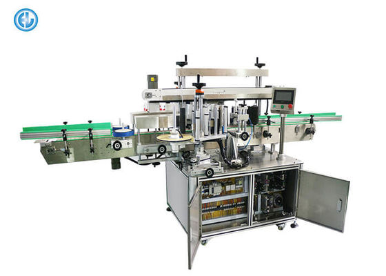 Double Sides Wrap Automatic Bottle Labeling Machine , Can Jar Labeling Machine