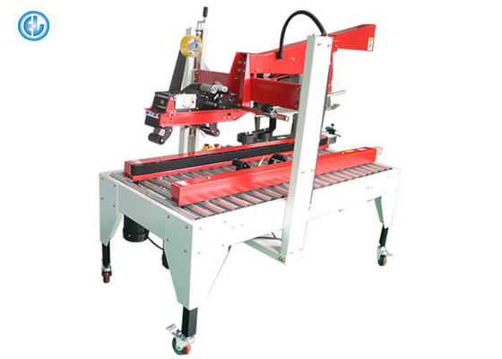 Semi Automatic Sleeve Labeling Machine Wine Carton Sealing High Efficient