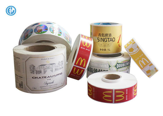 China Varnish Surface Printed Self Adhesive Labels For Advertising ISO CE Waterproof Adhesive Labels factory