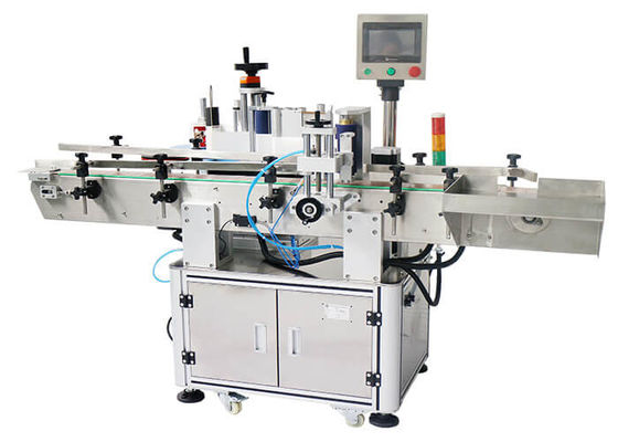 China Eye Drops Beverages Flat Labeling Machine With Check Alarm Function Front and Back Labeling Machine factory