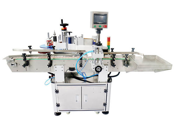 Round Plastic Glass Bottle Labeling Machine HL-T-401 With Oversea Serive Label Pasting Machine